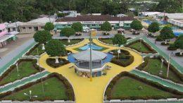 Praça central de Canutama: ex-prefeito do município foi condenado a devolver R$ 35 mil (Foto: Governo do Amazonas/Divulgação)