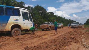 Transporte de passageiros entre Manaus e Porto Velho é suspenso na BR-319