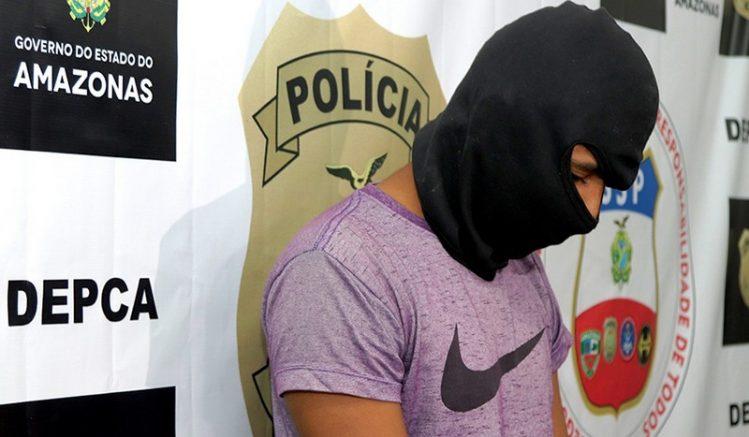 Rapaz não teve o nome revelado para preservar identidade também das vítimas (Foto: Alailson Santos /PCAM)