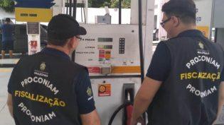 Procon notifica seis postos de combustíveis por suspeita de prática abusiva de preços