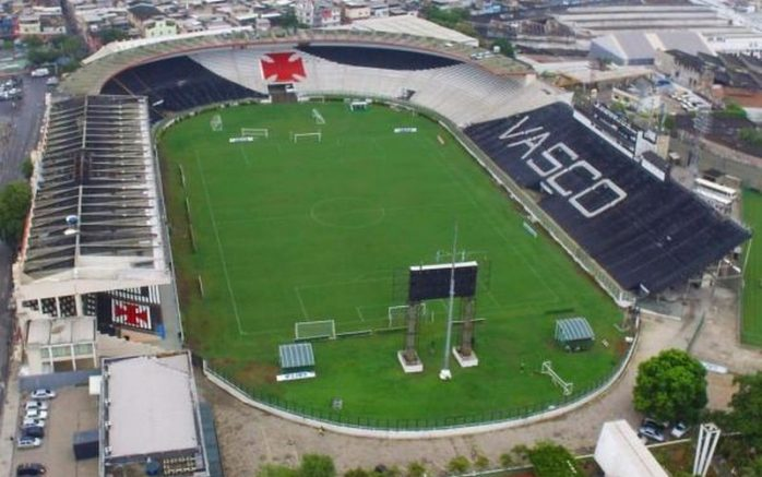 Estádio de São Januário, sede do Vasco, está sem água desde dezembro por dívida com concessionária (Foto: Marcelo Sadio/Vasco)