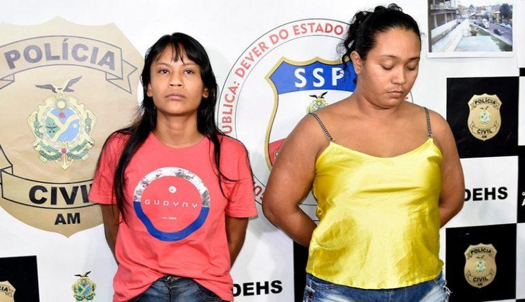 Silvilla Gonçalves e Lucimara de Souza Feitosa foram presas pelo assassinato de adolescente (Foto: Erlon Rodrigues/PCAM)
