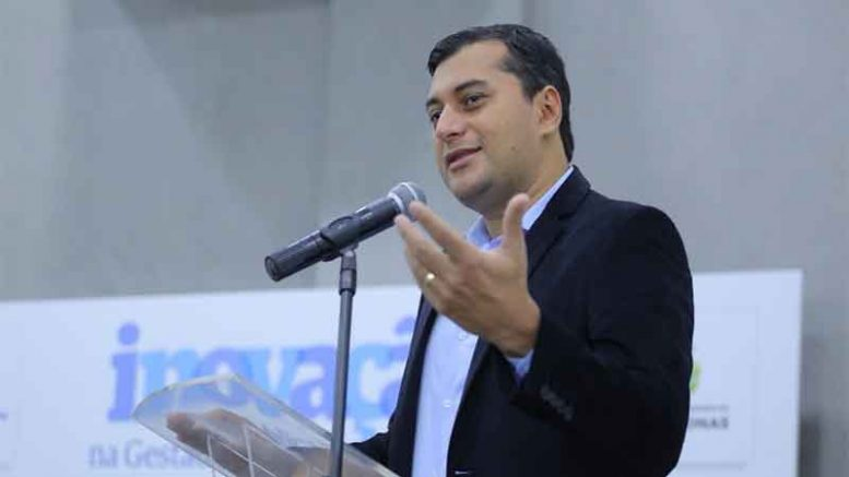Governador Wilson Lima anunciou medidas para reduzir gastos no governo (Foto: Diego Péres/Secom)