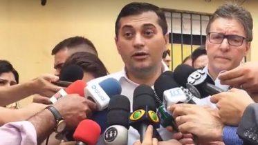 Governador Wilson Lima disse que voltou preocupado de Brasília, após encontro com ministro Paulo Guedes (Foto: Facebook/Reprodução)