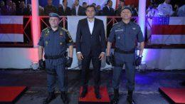 Governador Wilson Lima anunciou medidas em solenidade de posse de novo comandante da PM (Foto: Diego Péres/Secom)