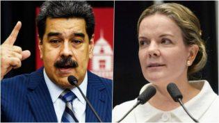 Apoio de Gleisi Hoffmann à  Maduro desrespeita a democracia