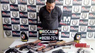 Homem apontado como liderança de facção é preso com 11 armas em Manaus