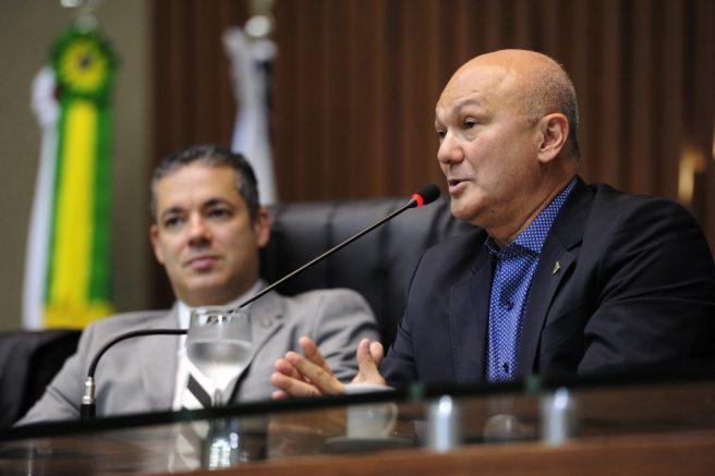 Superintendente da Suframa, Alfredo Menezes e o presidente da ALE, Josué Neto