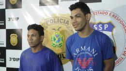 Cassiano e Keysson foram presos por assaltos a ônibus (Foto: Raquel Miranda/PC-AM/Divulgação)