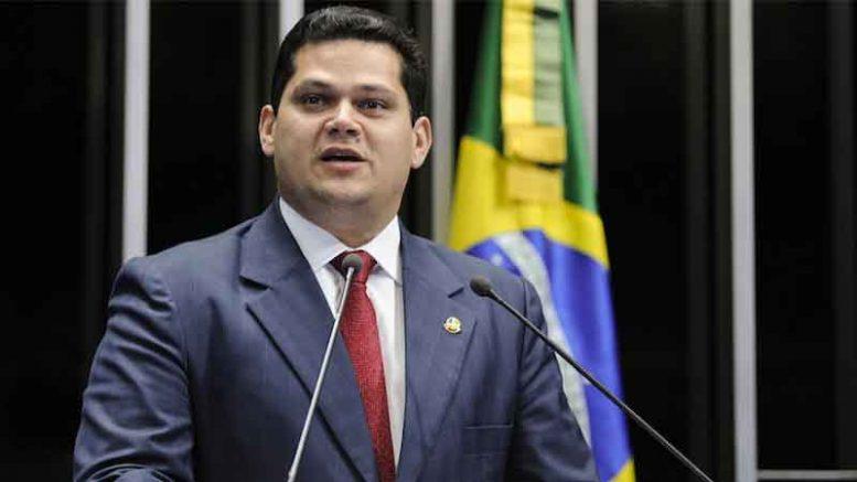 Davi Alcolumbre pregou união no primeiro discurso como presidente do Senado (Foto: Moreira Mariz/Agência Senado)