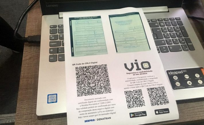 CRLV digital substituirá documento físico (Foto: Patrick Motta/ATUAL)