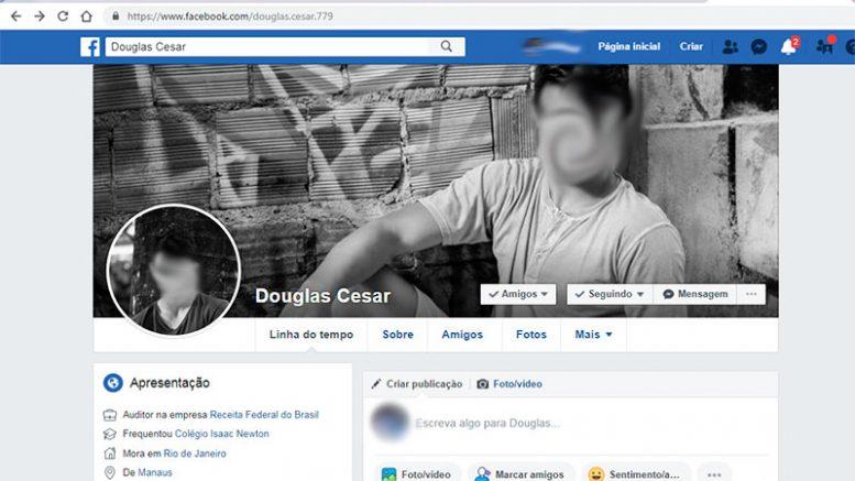 perfil falso usado por Ronaldo Tiradentes