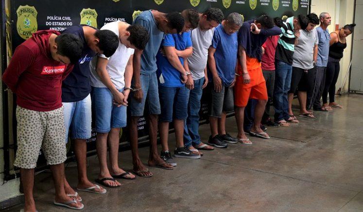 Suspeitos foram presos em operação que durou cinco dias (Foto: Alailson Santos/PCAM)