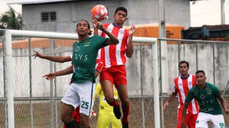 Manaus (de verde) levou a melhor sobre o Sul América (Foto: Antonio Assis/FAF/Divulgação)