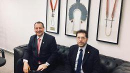 Senadores Omar Aziz e Plínio Valério