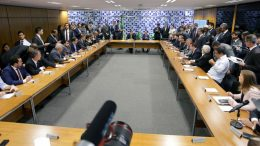Reunião de líderes partidários na Câmara debates sobre projetos do governo Bolsonaro (Foto: leia Viana/Agência Câmara)