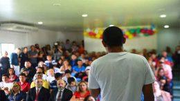 Interno fala sobre experiência educacional na abertura do ano letivo do Dase (Foto: Roberto Carlos/Secom)
