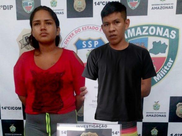 Camisa que flutua em foto de suspeito de tráfico (Foto: PCAM/Divulgação)