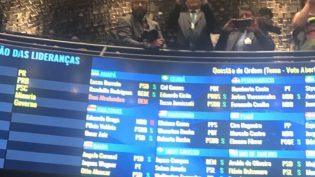 Omar e Plínio votam pelo voto aberto a presidente do Senado; Braga, não