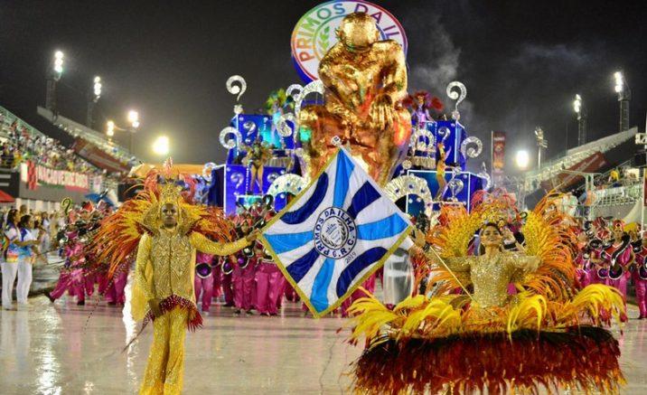Primos da Ilha abriu o carnaval do Grupo especial (Foto: Michael Dantas)