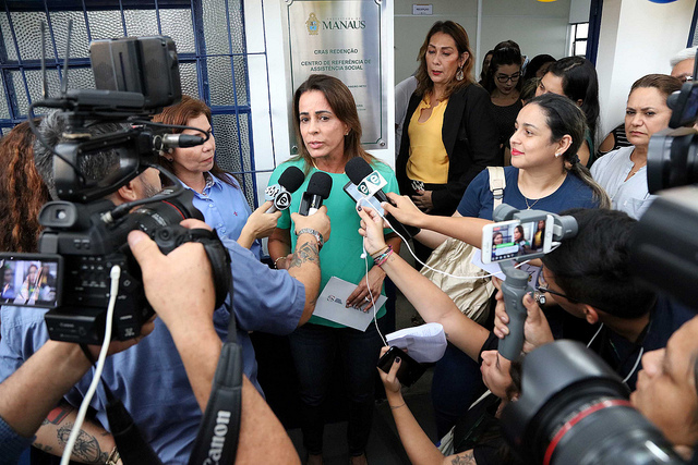 Presidente do Fundo Manaus Solidária, Elisabeth Valeiko Ribeiro