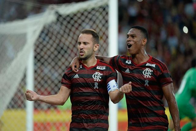 De pênalti, Everton Ribeiro marcou o gol da vitória rubro-negra (Foto: Alexandre Vidal/Flamengo)