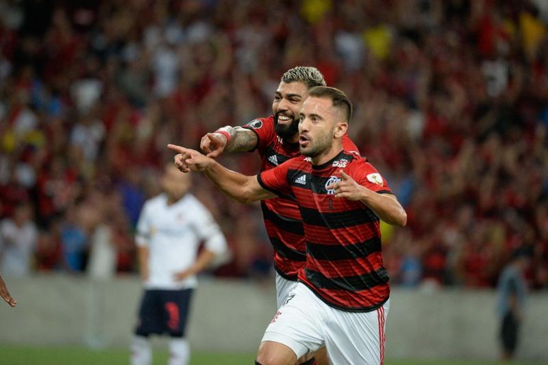 Everton Ribeiro e Gabriel marcaram na vitória do Flamengo (Foto: Alexandre Vidal/Flamengo)