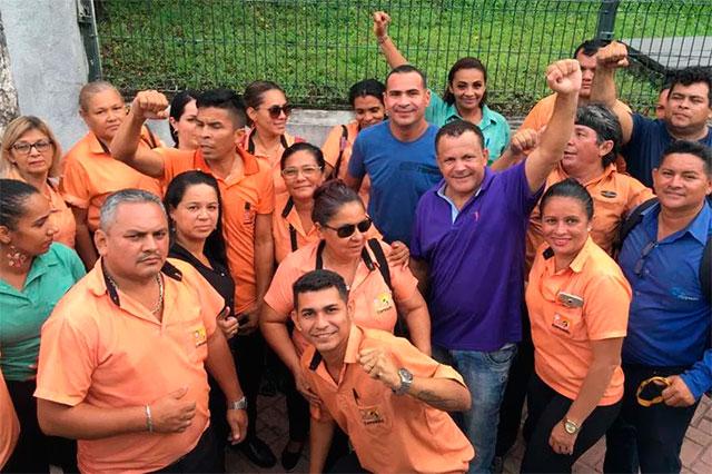Jaildo dos Rodoviários com funcionários de empresas de onibus
