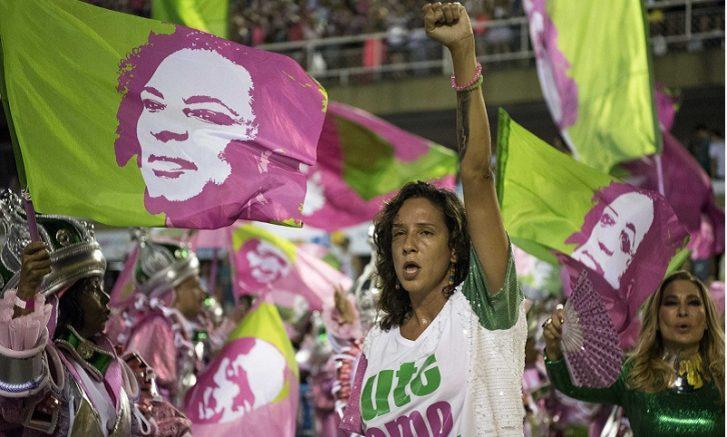 Monica Benício disse que ela e Marielle entendem o Carnaval como um espaço de resistência popular (Foto: Delmiro Junior/Folhapress)