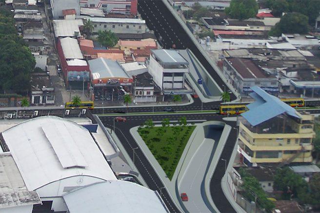 Projeto de passagem subterrânea na Avenida Constantino Nery (Foto: Reprodução)