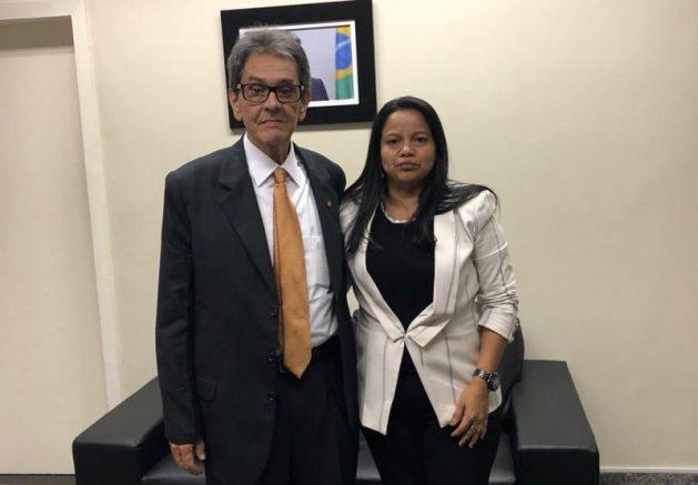 Roberto jefferson, presidente do PTB, nomeou Keilla Cristina da Silva para direção no AM (Foto: Divulgação)
