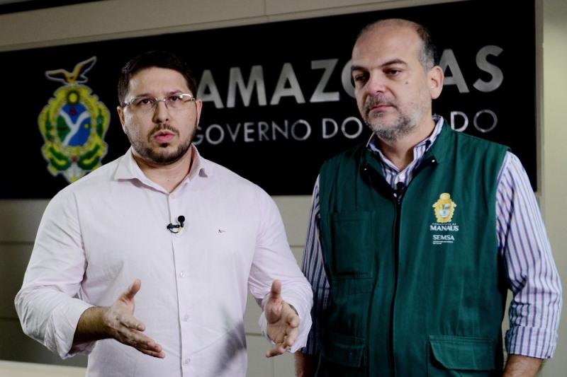 Secretarios da Susam, Carlos Almeida, e Semsa, Marcelo Magaldi