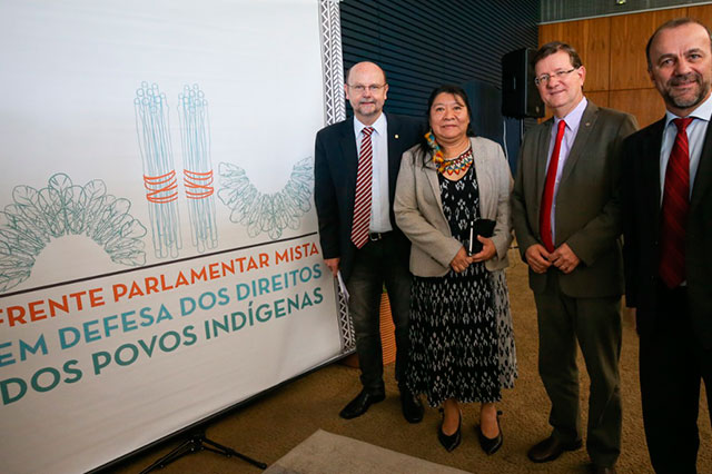 José Ricardo e membros da Frente Parlamentar em Defesa dos Povos Indígenas