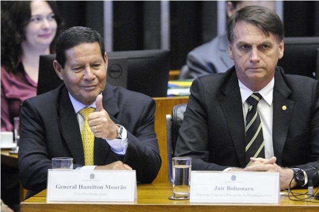 Hamilton Mourão e Jair Bolsonaro estão em paz (Foto: Alessandro Dantas/Fotos Públicas)