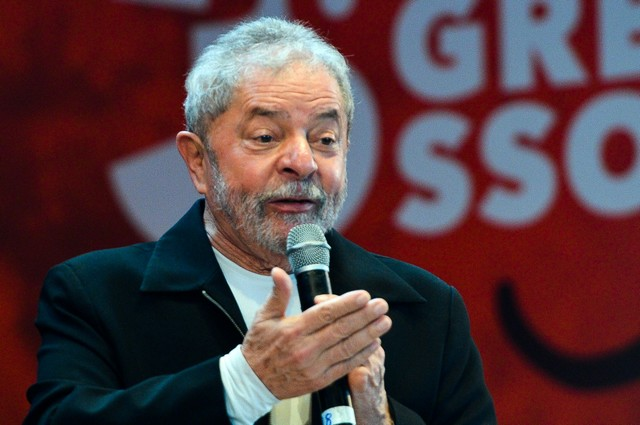 Ex-presidente Luiz Inácio Lula da Silva participa do Congresso Nacional da Juventude do PT (Foto: Antonio Cruz/Agência Brasil)