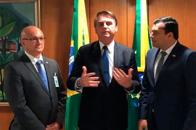 Alfredo Menezes, Jair Bolsonaro e Wilson Lima