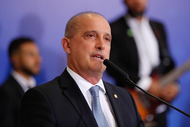 Caminhoneiro confirma conversa com o ministro da Casa Civil, Onyx Lorenzoni (Foto: Alan Santos/PR)