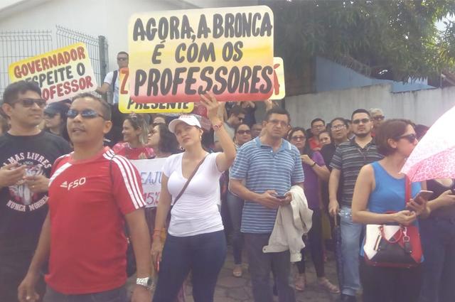 professores manifestação