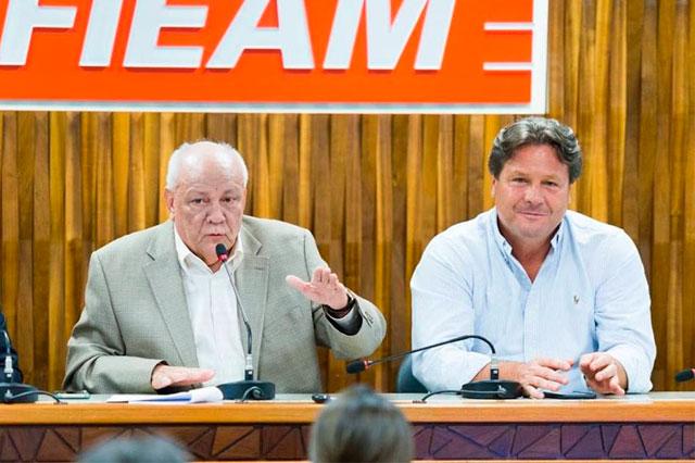 Antônio Silva, presidente da Fieam, e Wilson Périco, presidente do Cieam (Foto: Divulgação)