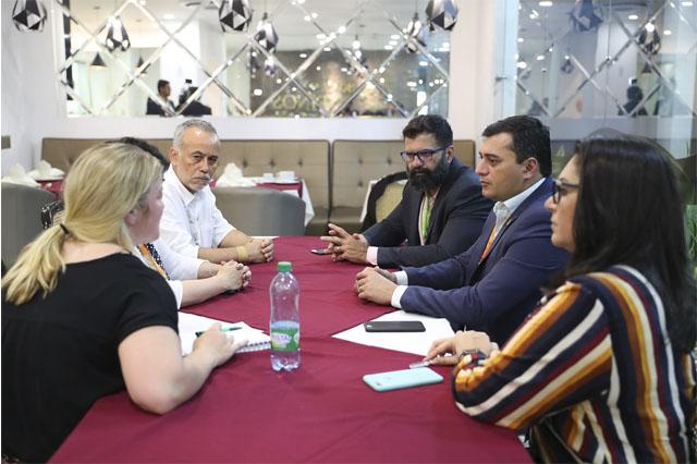 Governador Wilson Lima com representantes da Fundação Moore - (Foto: Diego Peres?Secom)