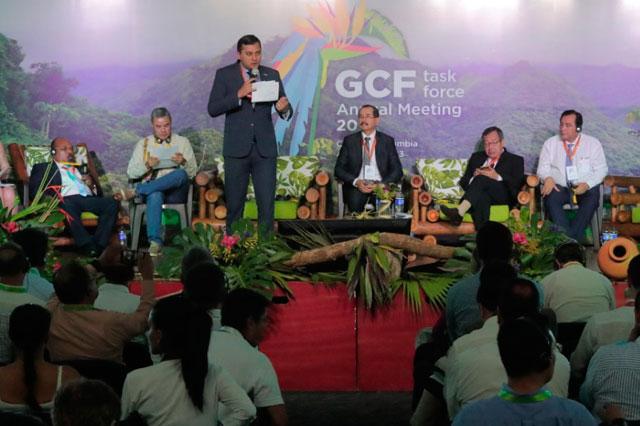 Wilson Lima fala no Fórum Global dos Governadores para Climas e Floresta (Foto: Divulgação)