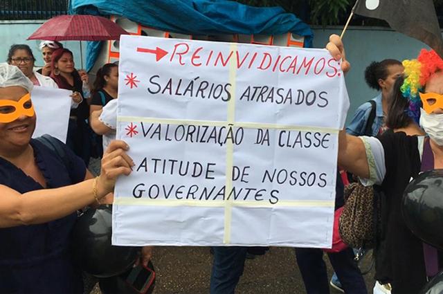 terceirizados protesto