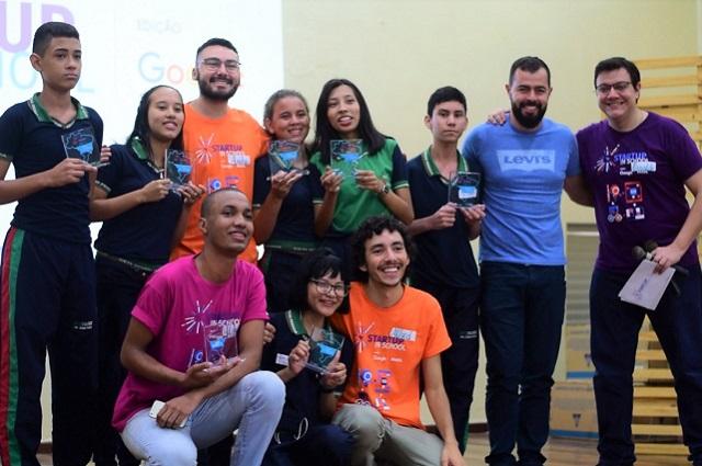 Alunos do Ceti Sérgio Pessoa - programa Startup in School