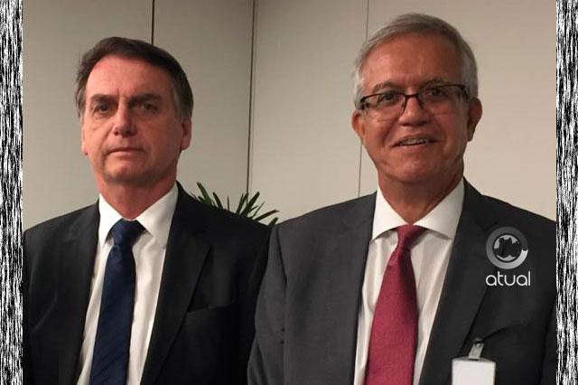 Presidente Jair Bolsonaro e Romero Reis