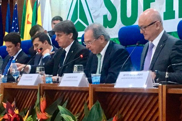 Presidente Jair Bolsonaro na Suframa