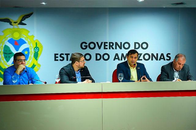 Wilson Lima reunido com secretarios