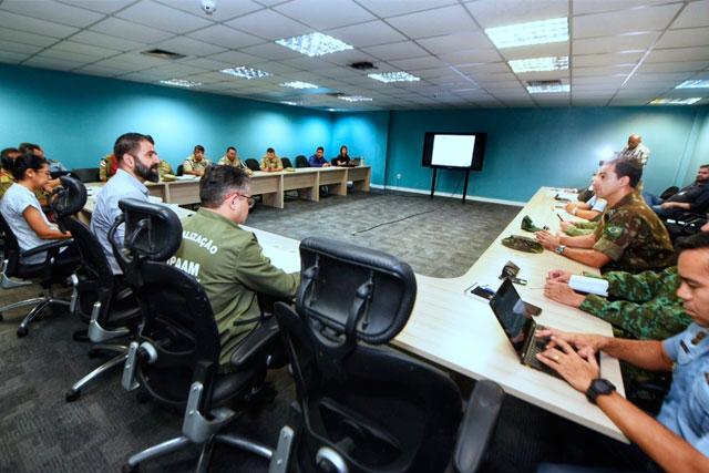 Reunião do gabinete de crise Governo do Amazonas