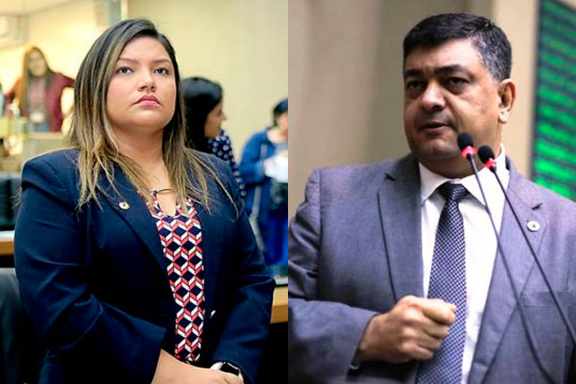 Deputada Joana Darc e deputado Dermilson Chagas