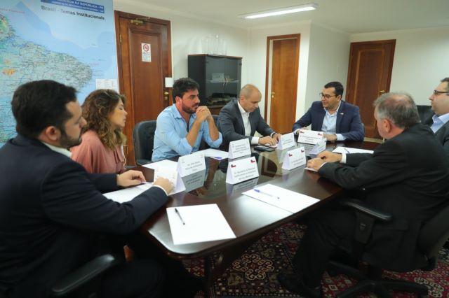 Governador Wilson Lima e executivos e Eneva