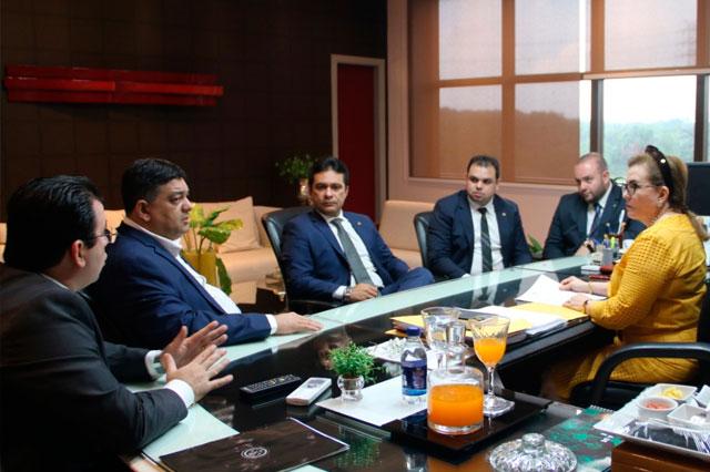 presidente do TCE, Yara Lins, recebe deputados